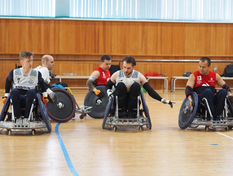 Сборная России команда города Москвы выиграла Чемпионат России по регби на колясках