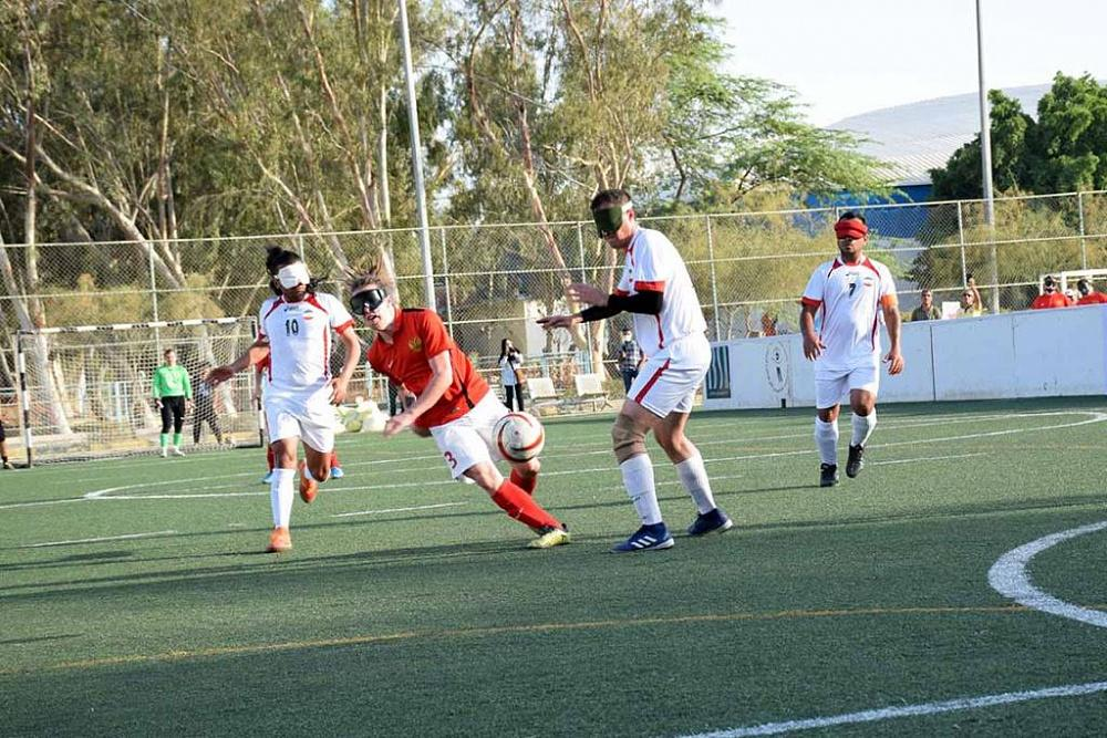 Сборная команда России по мини-футболу (тотально слепые спортсмены) провела товарищеские матчи со сборной Ирана