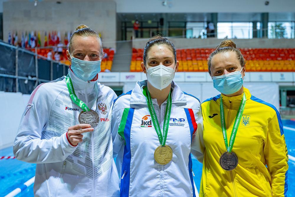Сборная команда России по плаванию завоевала 25 золотых медалей и заняла третье место в медальном зачете открытого чемпионата Европы по плаванию МПК.